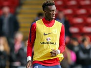 Abraham nets twice For England U21s