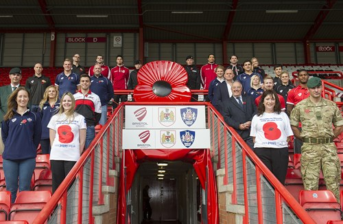Bristol Sport Kicks Off Poppy Day Appeal