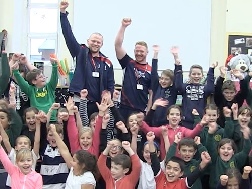 VIDEO: Hurrell and Joyce Visit North Road Primary School