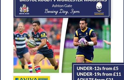 Tickets Available Online For Worcester Warriors Clash