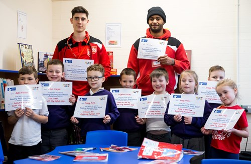 GALLERY: City Duo Help Out With School Reading Programme