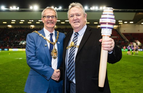 Bristol Passed European City Of Sport Baton At Ashton Gate