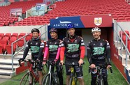Royal Navy Staff Visit Ashton Gate As Part Of 500-Mile Challenge
