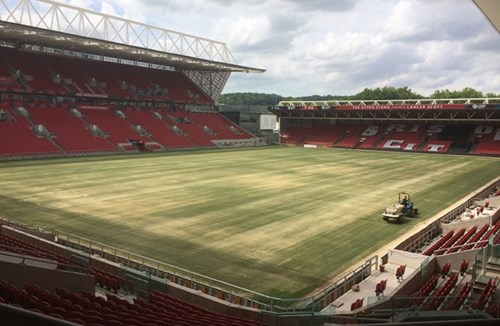 Pitch renovation up and running