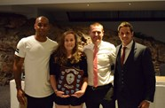 Varndell attends Nailsea School Sports Personality of the Year awards night