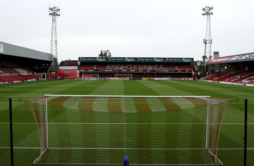 Sold out away end at Brentford