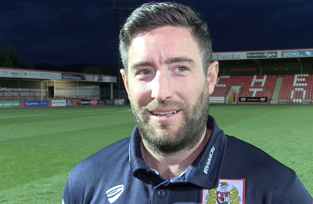 Video: Lee Johnson Post-Cheltenham Town away thumbnail