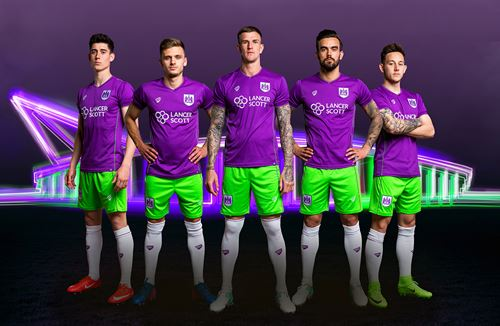 Purple and lime voted best kit in the EFL
