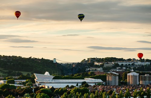 Park at Ashton Gate during the Balloon Fiesta