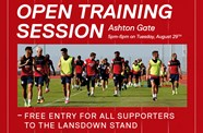 Open training session at Ashton Gate
