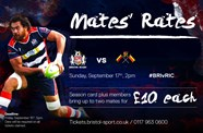 Mates' rates for Richmond clash at Ashton Gate
