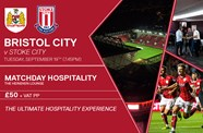 Experience hospitality for Stoke cup tie