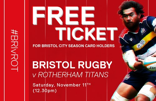 Free Rugby tickets for season card holders