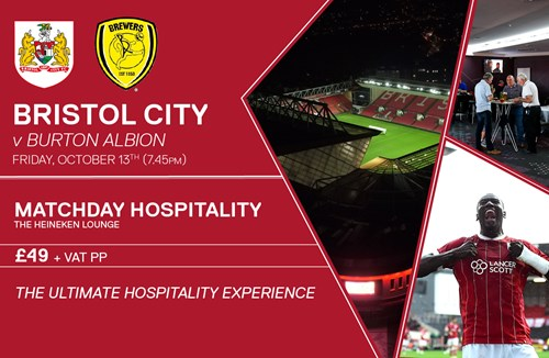 Hospitality offer for Burton clash
