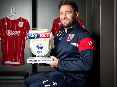 Lee Johnson - September's Manager of the Month