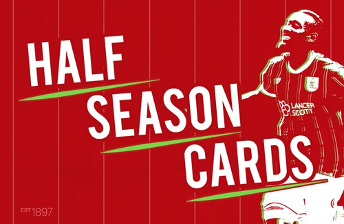 Half-season cards now on sale