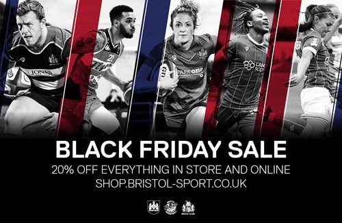 Black Friday Sale: 20% off everything this weekend in the Bristol Sport Store