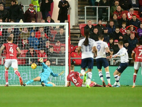 Goals: Bristol City 1-2 Preston North End