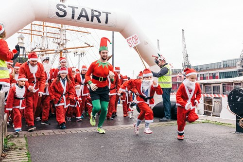 Join Bristol Rugby for Children's Hospice South West 'Santa Run'