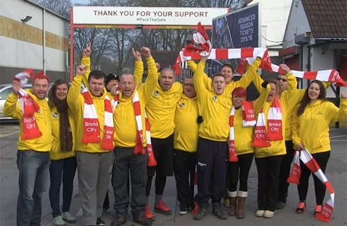 Fans Walk To Wembley For Oskar