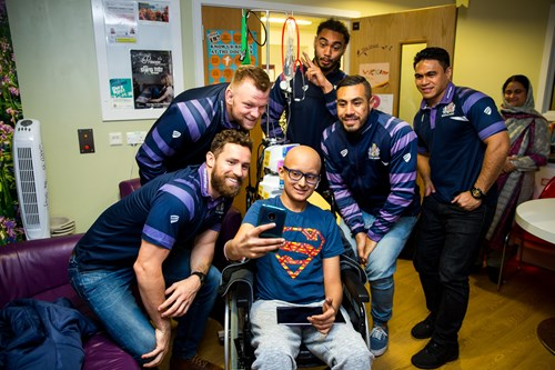 Gallery: Players visit Bristol Royal Hospital for Children