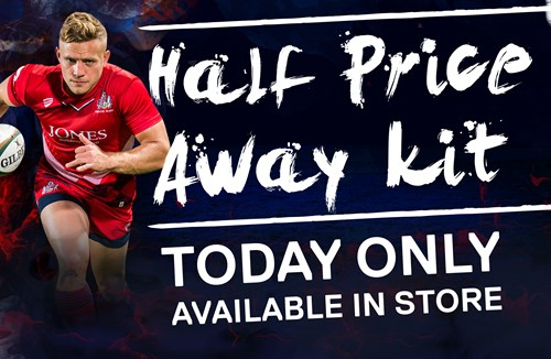 Take advantage of half-price away kits in Bristol Sport Store
