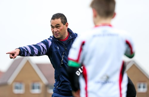 Video: Pat Lam coaches youngsters at Community Foundation Christmas Camp