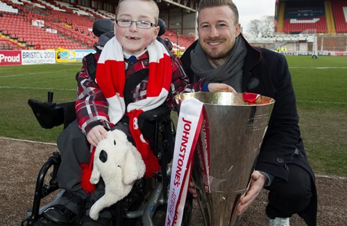 Oskar Pycroft celebrates reaching landmark target