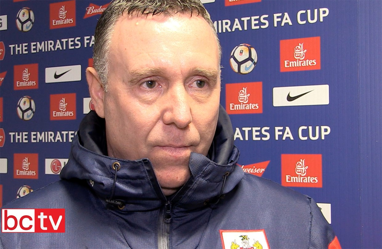 Video: Brian Tinnion Post-Watford away (Emirates FA Cup) thumbnail