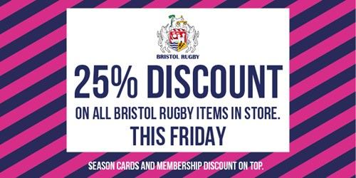 25% off in the Bristol Sport store on Friday only