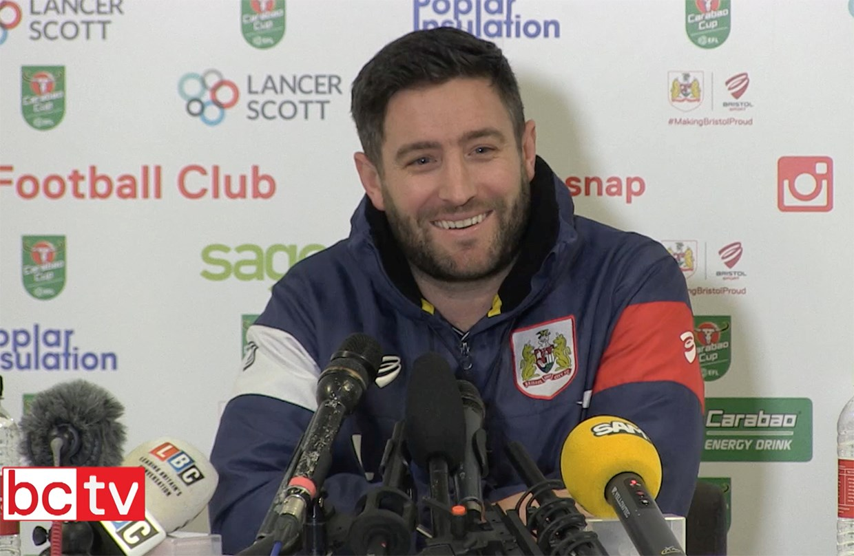 Video: Lee Johnson Pre-Manchester City Press conference thumbnail