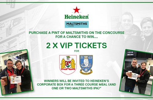 Heineken giveaway at Ashton Gate