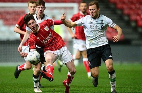 Under-23s in action at Ashton Gate