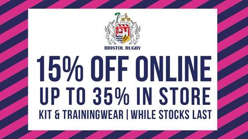15% off in the Bristol Sport store all weekend