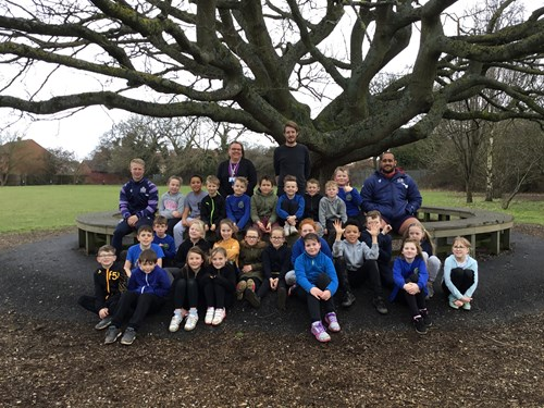 Stoke Lodge pupils' marathon effort in aid of Sport Relief