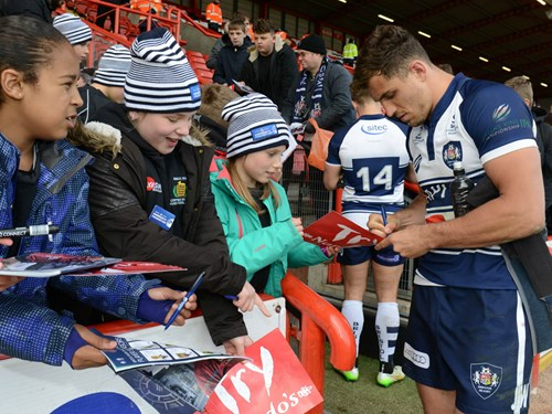 Meet Bristol Rugby Players At Ashton Gate