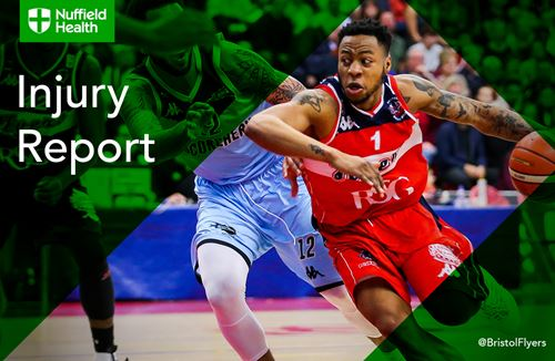 Injury Report - Mayindombe out with sprained ankle