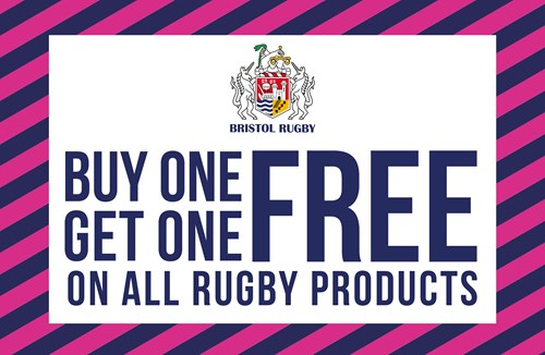 Buy one get one free on all rugby products!