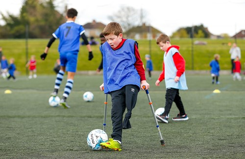 Disability football with the Community Trust