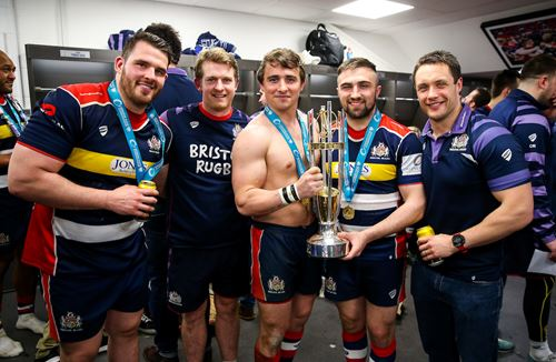 Gallery: The changing room celebrations at Ashton Gate