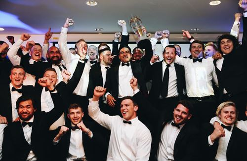 Players and supporters attend celebration dinner at Ashton Gate