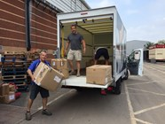 Club donates more than 80 boxes of kit to sporting charity