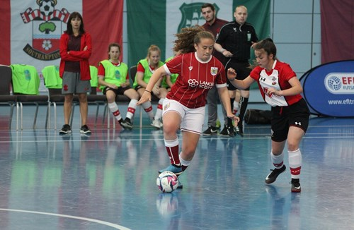Trust's Girls Futsal teams conquer St George's Park