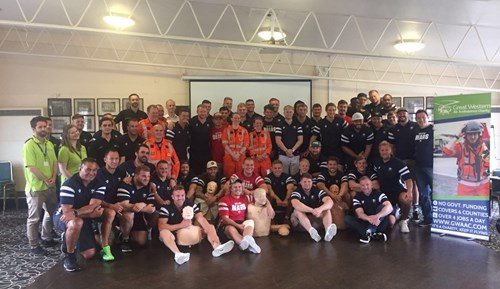 Bristol Bears receive CPR training from Great Western Air Ambulance
