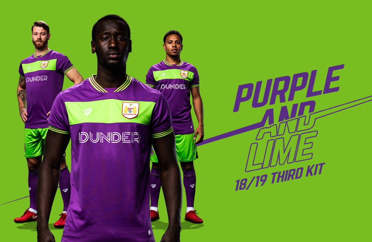 d880dcef952 Purple and lime third kit unveiled for 2018/19 campaign | Bristol City