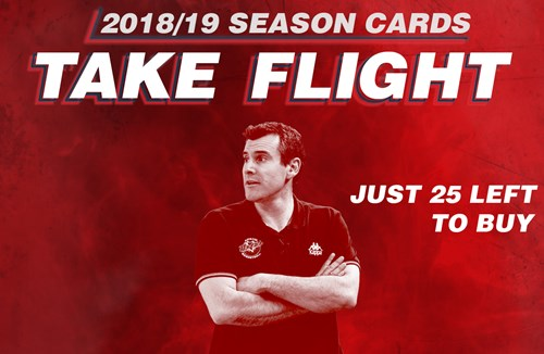 Flyers 2018/19 season cards back on sale