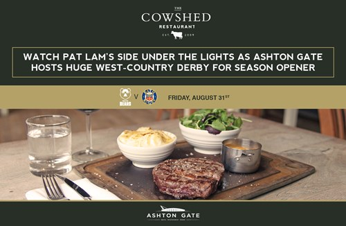 Cowshed hospitality returns to Ashton Gate