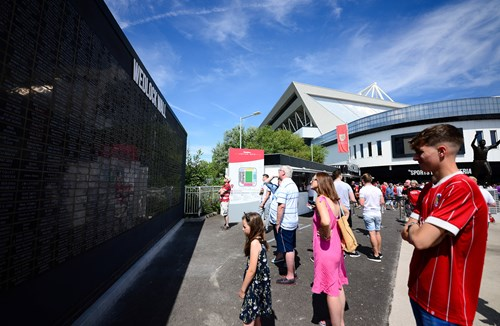 Wedlock Wall unveiled in Ashton Gate Fan Village