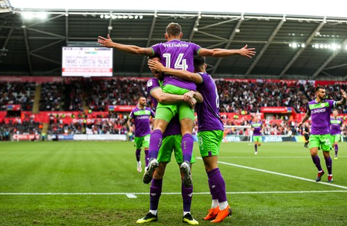 Weimann goal at Swansea clinches August moment of the month