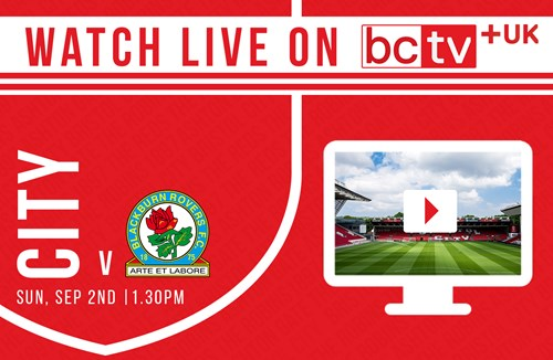 Watch City take on Blackburn live online in the UK
